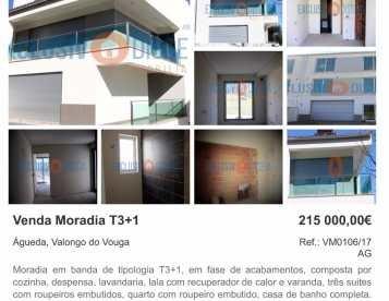 Moradia T3+1em Valongo do Vouga