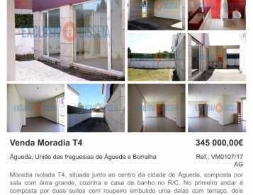 Moradia T4 em Alagoa - Águeda