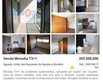 Moradia T3+1 em Valongo do Vouga - Águeda