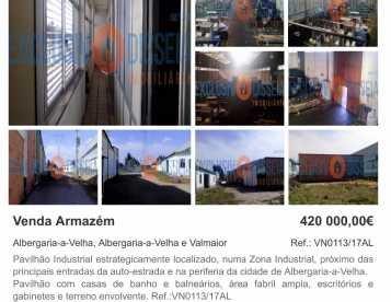 Pavilhão Industrial em Albergaria-a-Velha