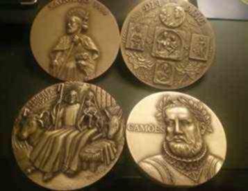 Medalhas em bronze