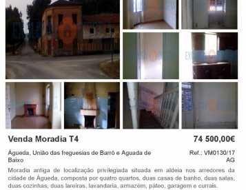Moradia T4 Aguada de Baixo