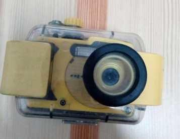 Maquina fotográfica subaquática
